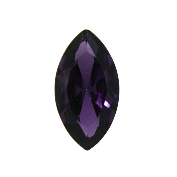 Purple Kinesisk Strass Navette 18x9mm 3st