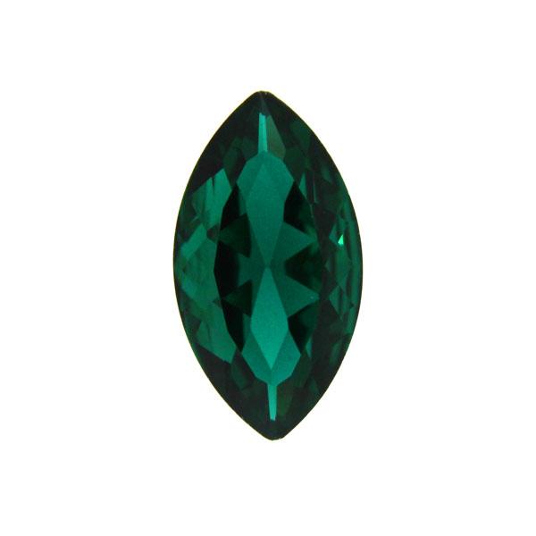 Emerald Kinesisk Strass Navette 18x9mm 3st
