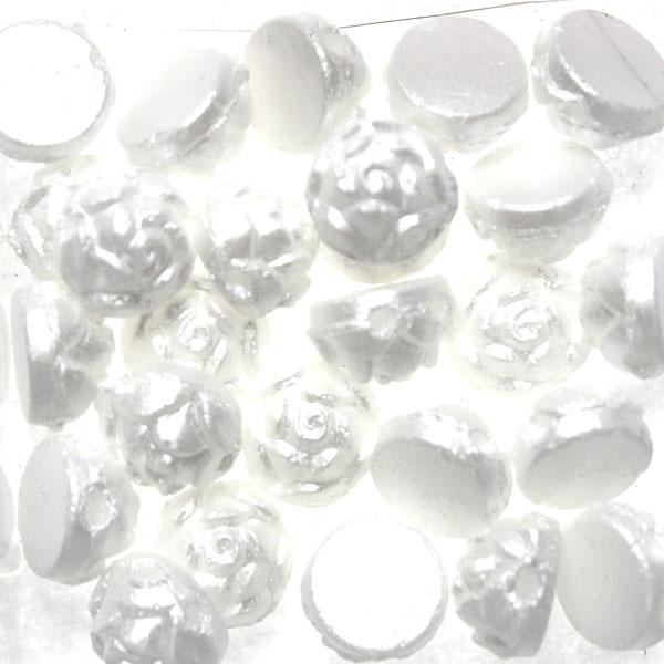 Alabaster Pastel White Rosetta 2-Hole 5g