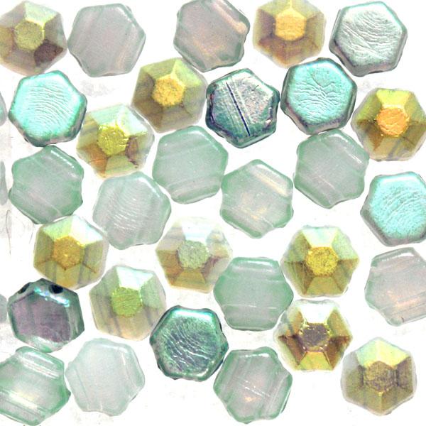 Opal Blue Rainbow Honeycomb Jewel 30st