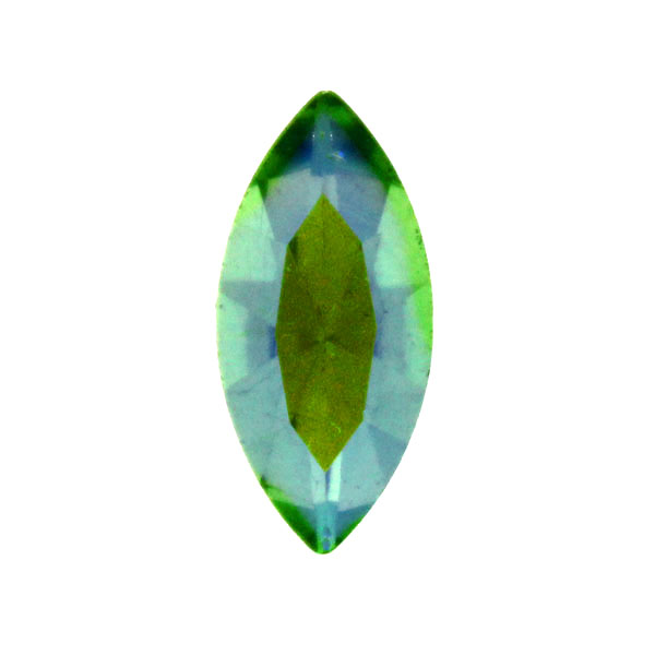 Light Green AB Kinesisk Strass Navette 15x7mm 2st