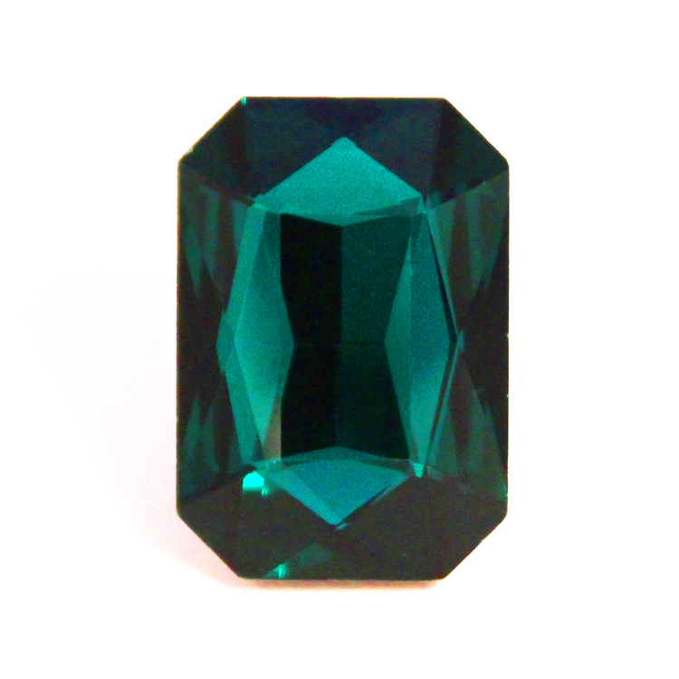 Emerald Kinesisk Strass Rektangel 18x13mm 2st