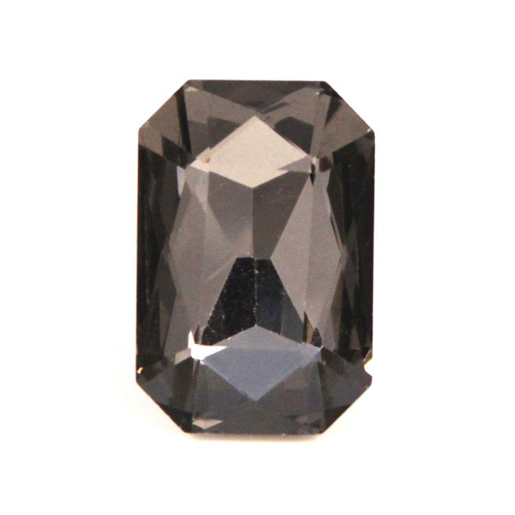 Black Diamond Kinesisk Strass Rektangel 18x13mm 2st