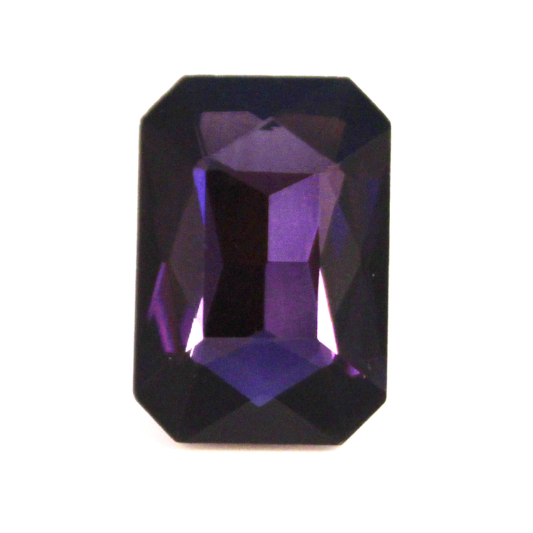 Purple Kinesisk Strass Rektangel 27x18mm 1st