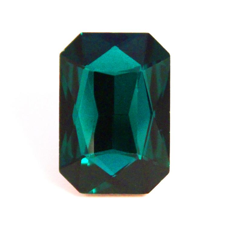 Emerald Kinesisk Strass Rektangel 27x18mm 1st