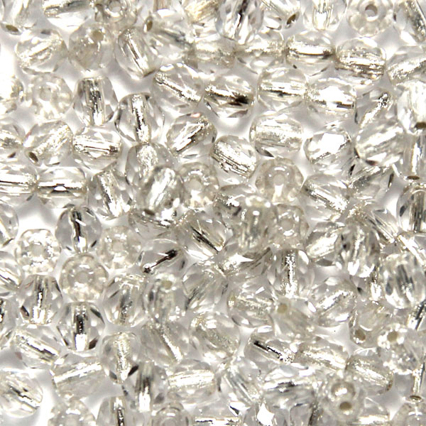Crystal Silver Lined Fire Polish 4mm 100st