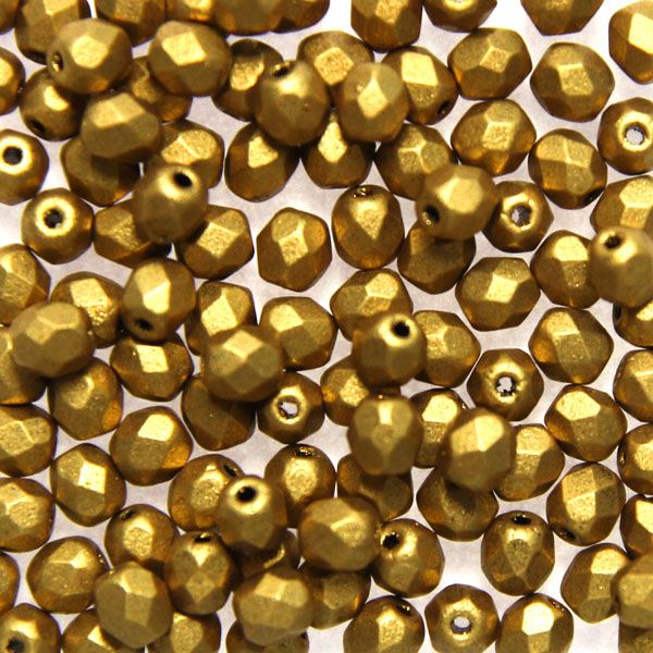 Olive Gold Fire Polish 3mm 100st