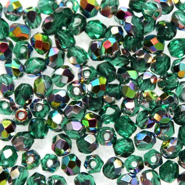 Emerald Vitrail Fire Polish 3mm 100st