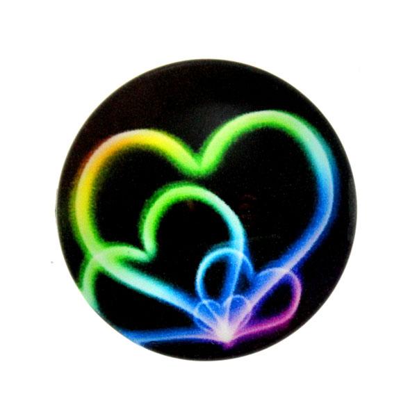 Hjärta 3 Cabochon 25mm 1st