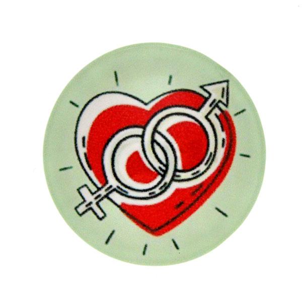Hjärta 9 Cabochon 25mm 1st