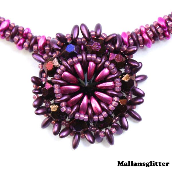 Q Necklace Kit Purple and Pink (EJ MÖNSTER ENDAST PÄRLOR)