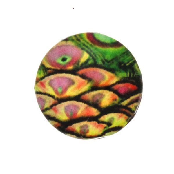 Påfågel 1 Cabochon 12mm 1st