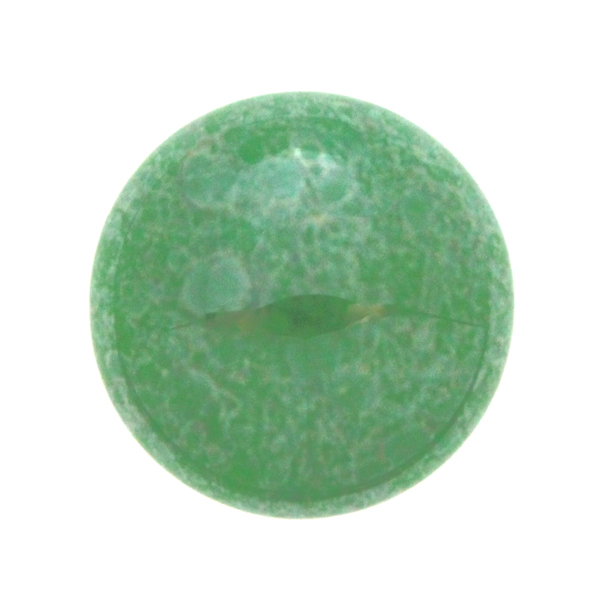Opaque Dark Green Luster Cabochon Par Puca 18mm 1st