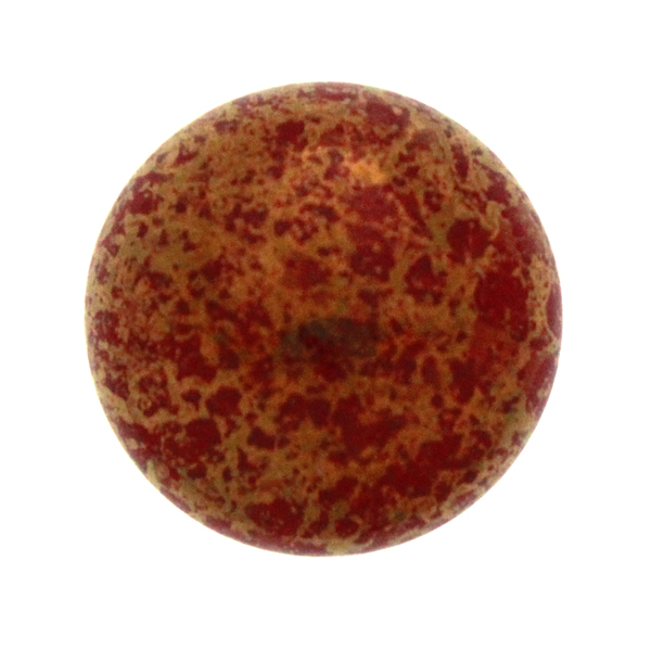Coral Red Teracota Bronze Cabochon Par Puca 18mm 1st