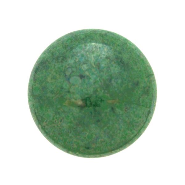 Opaque Dark Green Luster Cabochon Par Puca 25mm 1st