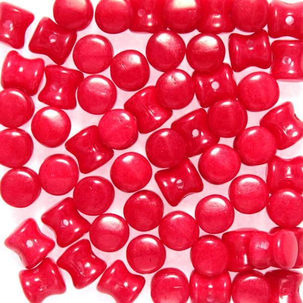 Alabaster Red Diabolo/Pellet Beads 10g