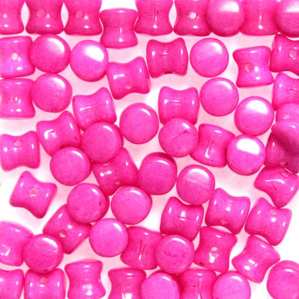 Alabaster Fuchsia Diabolo/Pellet Beads 10g