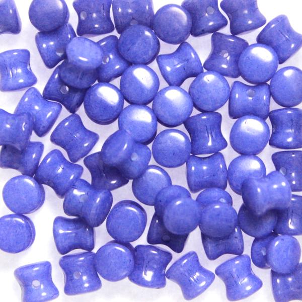 Alabaster Lila Diabolo/Pellet Beads 10g