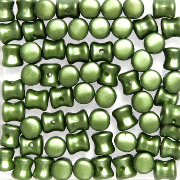 Alabaster Pastel Olivine Diabolo/Pellet Beads 10g