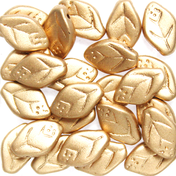 Aztec Gold Leaf Beads 10g