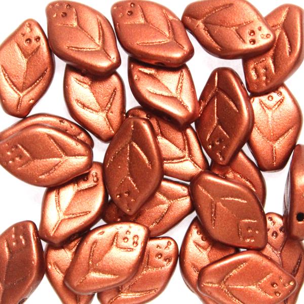 Copper Leaf Beads 10g