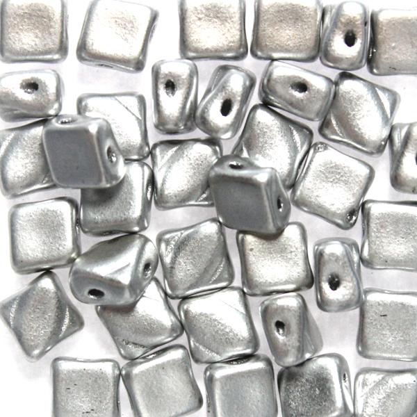Aluminium Silver Silky Beads 10g