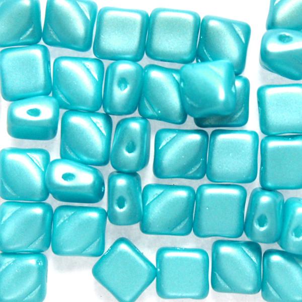 Alabaster Pastel Aqua Silky Beads 10g