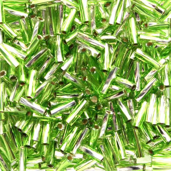 S/L Crystal/Olive TW206-3941 Miyuki Twisted Bugle Beads 6mm 10g