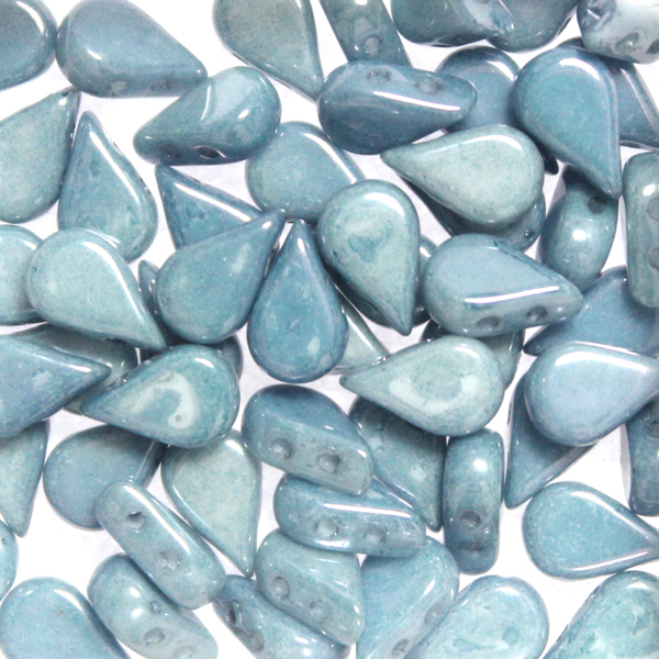 Opaque White Blue Luster Amos 10g