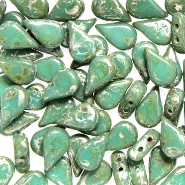 Green Turquoise Patina Silver Amos 10g