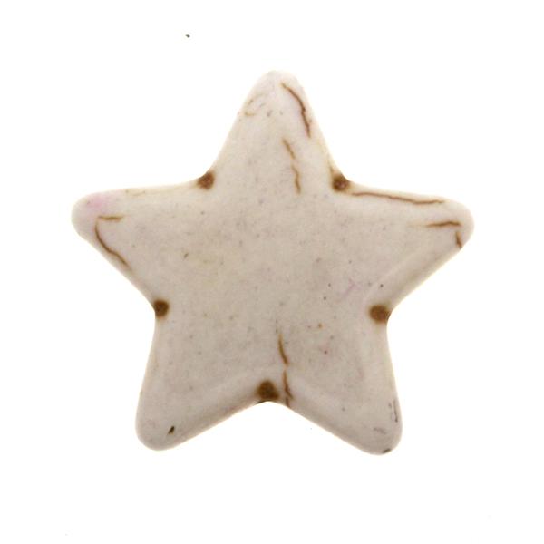 Vit Howlit Stjärnor 25mm 1st