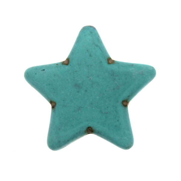 Turkos Howlit Stjärnor 25mm 1st