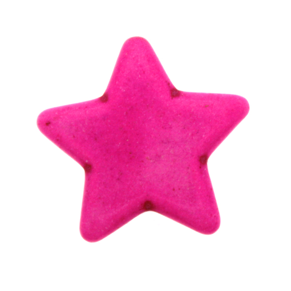 Rosa Howlit Stjärnor 25mm 1st