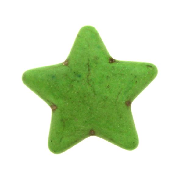 Grön Howlit Stjärnor 25mm 1st
