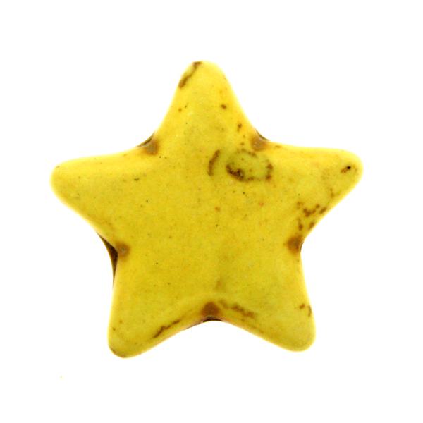 Gul Howlit Stjärnor 25mm 1st