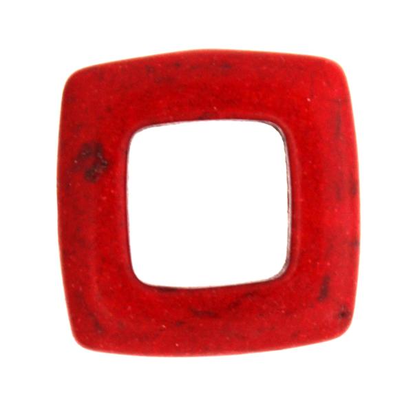 Röd Howlit Ram 20x20mm 1st