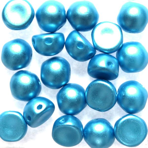 Alabaster Pastel Turquoise 2-hole Cabochon 20st