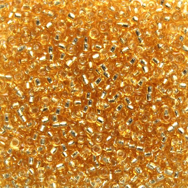 Silverlined Gold 11-0003 Miyuki 11/0 10g