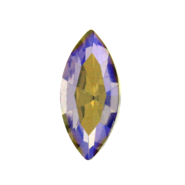Light Topaz AB Kinesisk Strass Navette 15x7mm 2st