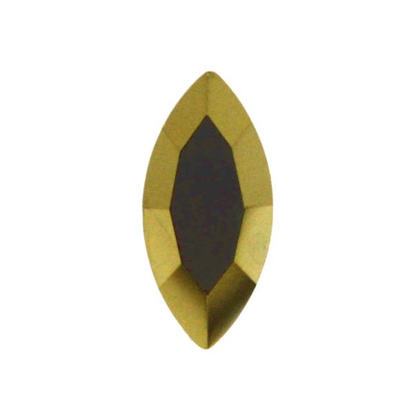 Gold Kinesisk Strass Navette 15x7mm 2st