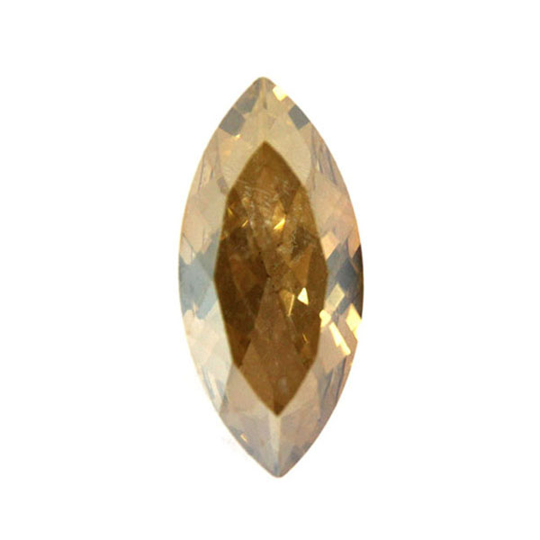 Gold Shade Kinesisk Strass Navette 15x7mm 3st