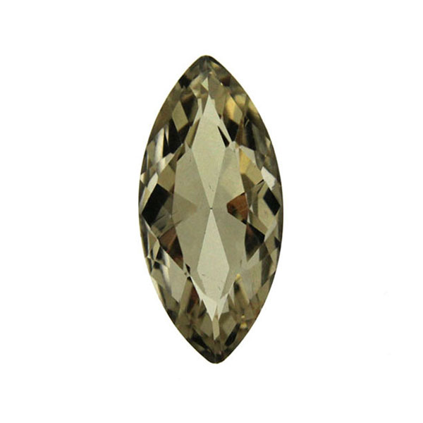Light Topaz Kinesisk Strass Navette 15x7mm 3st