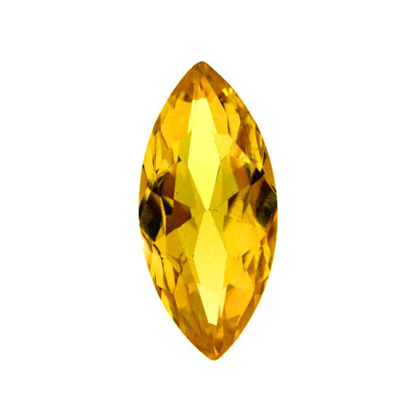 Yellow Kinesisk Strass Navette 15x7mm 3st