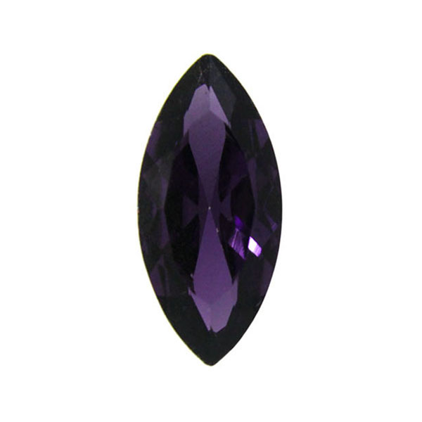 Purple Kinesisk Strass Navette 15x7mm 3st