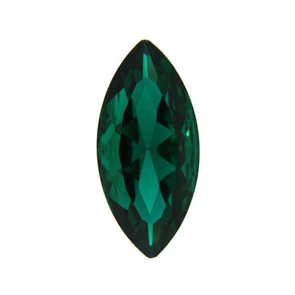 Emerald Kinesisk Strass Navette 15x7mm 3st