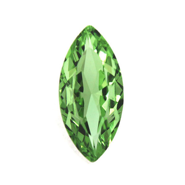 Light Green Kinesisk Strass Navette 15x7mm 3st