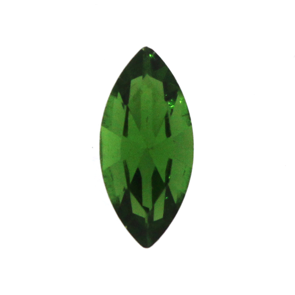 Dark Green Kinesisk Strass Navette 15x7mm 3st