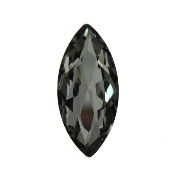 Black Diamond Kinesisk Strass Navette 15x7mm 3st