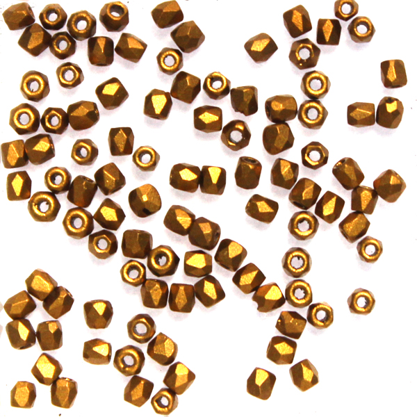 Brass Gold Fire Polish TRUE 2mm 100st