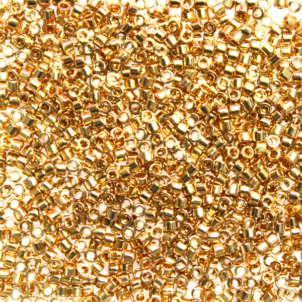 24kt Light Gold Plated DB-0034 Delicas 11/0 5g